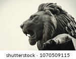 Statue Of A Lion Muzzle In...