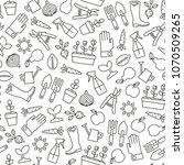 seamless pattern with gardening ... | Shutterstock .eps vector #1070509265