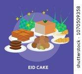 eid cake conceptual design | Shutterstock .eps vector #1070509358