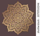 mandala vector design element.... | Shutterstock .eps vector #1070510246