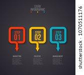 dark abstract infographics... | Shutterstock .eps vector #1070511176