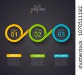 dark vector infographic design... | Shutterstock .eps vector #1070511182
