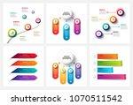 vector gradient infographic and ... | Shutterstock .eps vector #1070511542