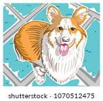 colorful illustration with hand ... | Shutterstock .eps vector #1070512475