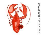 lobster vector illustration.... | Shutterstock .eps vector #1070517842