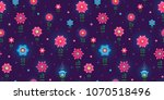 vector seamless pattern with... | Shutterstock .eps vector #1070518496