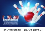 bowling club poster with the... | Shutterstock .eps vector #1070518952
