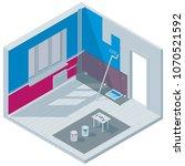 isometric illustration on the... | Shutterstock .eps vector #1070521592
