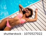 cropped close up top above... | Shutterstock . vector #1070527022