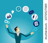 business illustration concept... | Shutterstock .eps vector #1070527085