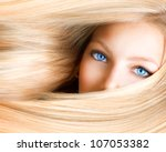 blond girl. blonde woman with... | Shutterstock . vector #107053382
