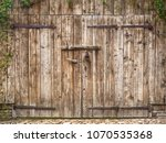 Old Weathered Wooden Barn Door...