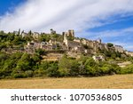 view of the village of montbrun ... | Shutterstock . vector #1070536805