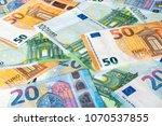 euro money. euro cash... | Shutterstock . vector #1070537855