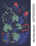 flower colored background | Shutterstock .eps vector #1070545352