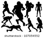 vector american football... | Shutterstock .eps vector #107054552