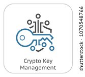 crypto key management icon.... | Shutterstock .eps vector #1070548766