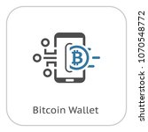 bitcoin wallet icon. modern... | Shutterstock .eps vector #1070548772