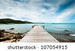 wooden pier at koh samet | Shutterstock . vector #107054915