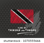 trinidad and tobago flag ... | Shutterstock .eps vector #1070555666