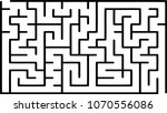 labyrinth of low complexity.... | Shutterstock .eps vector #1070556086