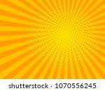 yellow sun shine halftone...   Shutterstock . vector #1070556245
