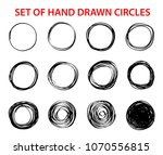 circle scribble line sketch set ... | Shutterstock .eps vector #1070556815