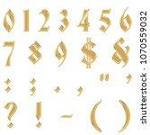 gold chrome metallic antique...   Shutterstock . vector #1070559032