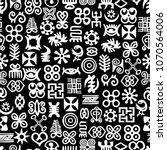 seamless african adinkra... | Shutterstock .eps vector #1070564006