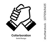 holding hands solid icon | Shutterstock .eps vector #1070565635