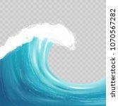 Sea Big Wave With White Foam....