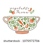 healthy food poster with text   ...   Shutterstock .eps vector #1070572706