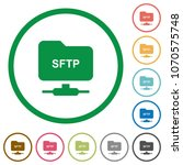 ftp over ssh flat color icons... | Shutterstock .eps vector #1070575748