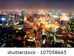 a view over the big asian city... | Shutterstock . vector #107058665