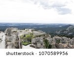aerial view to medieval...   Shutterstock . vector #1070589956