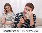 masks off. sensitive kind... | Shutterstock . vector #1070593952