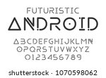 fonts technology and modern... | Shutterstock .eps vector #1070598062