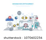 exchange rate cryptocurrency.... | Shutterstock .eps vector #1070602256
