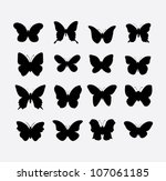 Stock vector butterfly vector 107061185