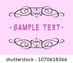 calligraphic vintage frame... | Shutterstock .eps vector #1070618366