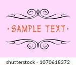calligraphic vintage frame... | Shutterstock .eps vector #1070618372