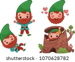 vector forest gnome character | Shutterstock .eps vector #1070628782