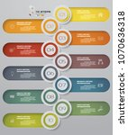 vector 10 steps order... | Shutterstock .eps vector #1070636318