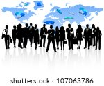 illustration of business people ... | Shutterstock .eps vector #107063786