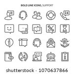 support  bold line icons. the... | Shutterstock .eps vector #1070637866
