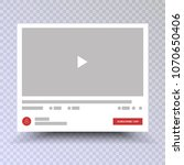 video channel app interface... | Shutterstock .eps vector #1070650406