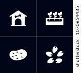 set of 4 household icons set.... | Shutterstock .eps vector #1070654435