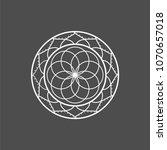 yoga mandala logo and icon... | Shutterstock .eps vector #1070657018