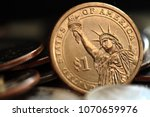 close up of us one dollar coin | Shutterstock . vector #1070659976
