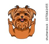 yorkshire terrier dog. rock... | Shutterstock .eps vector #1070661455